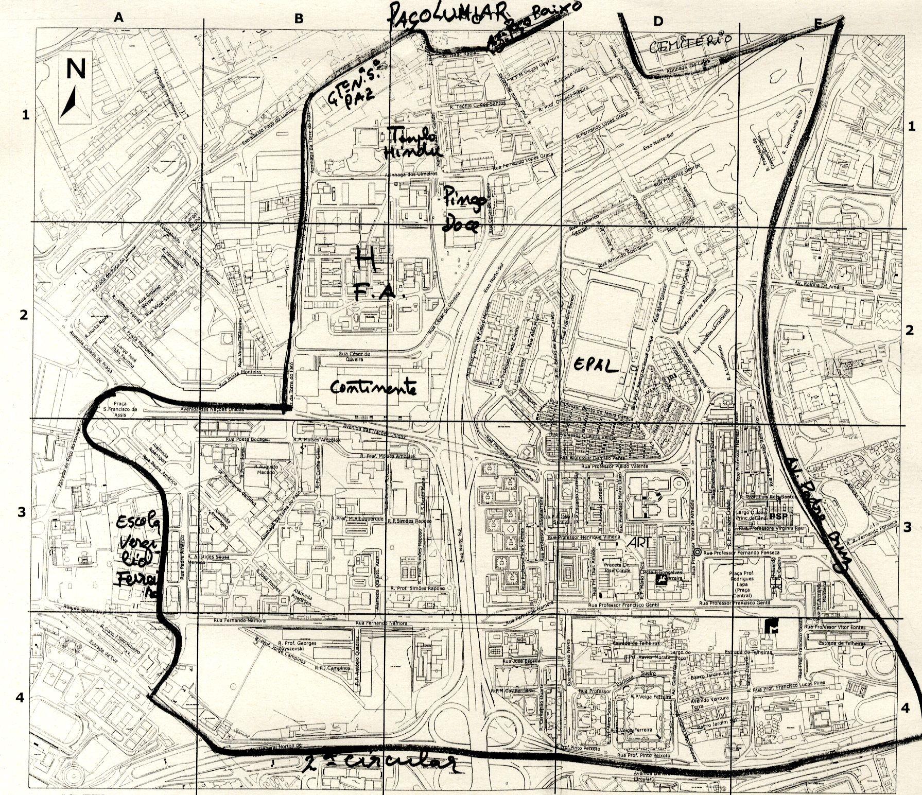 mapa telheiras Telheiras Mapa | thujamassages mapa telheiras